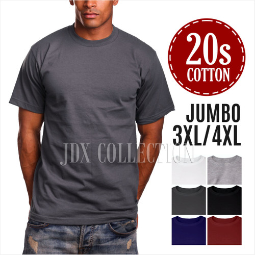 Foto Produk Baju Kaos Polos Dewasa Big Size Jumbo 3XL 4XL XXXL Kaos Oblong T-Shirt - 3XL, MAROON dari JDX Collection