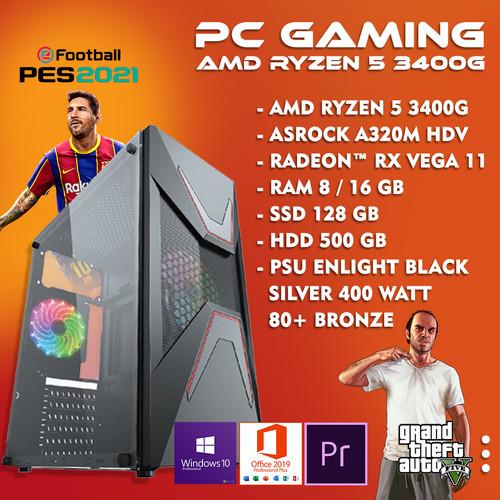 Foto Produk PC RAKITAN AMD Ryzen 5 3400G Vega 11   PC RAKITAN GAMING - 8 gb dari Momohamaru