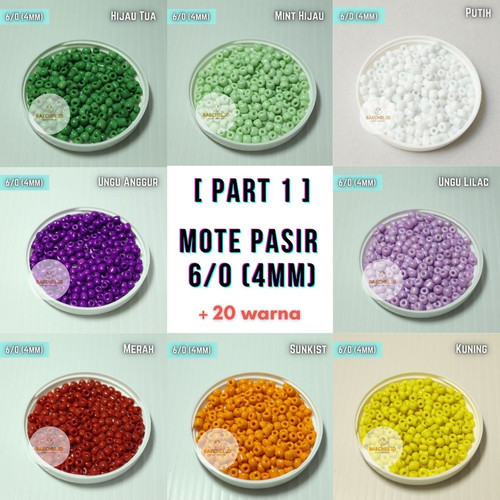 Foto Produk (15gr) Manik Mote Pasir Payet 6/0 (4mm)   Part 1 Seed Beads - Cokelat Tua dari baechel