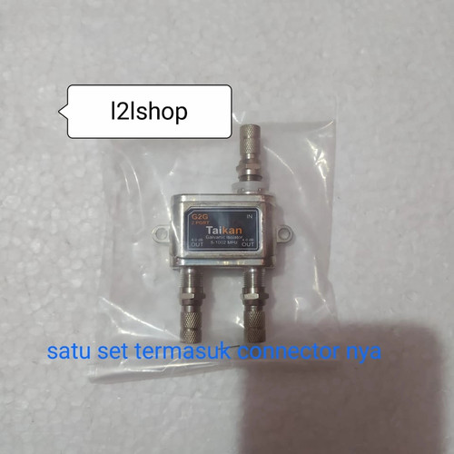 Foto Produk Splitter antena tv cabang 2 way splitter signal+ draf connector f dari l2lshop
