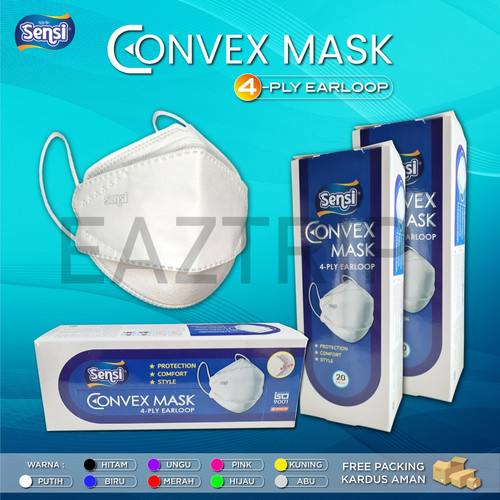 Foto Produk Sensi Convex Mask 4Ply Earloop (20Pcs) ORIGINAL MURAH - Hijau dari eaztrip