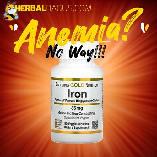 Foto Produk Vitamin Zat Besi California Nutrition Ferrochel Iron, Herbal Bagus dari herbalbaguscom