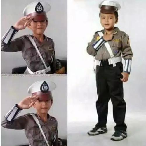 Foto Produk SERAGAM POLANTAS ANAK ANAK/BAJU POLISI ANAK - S dari BOYS165