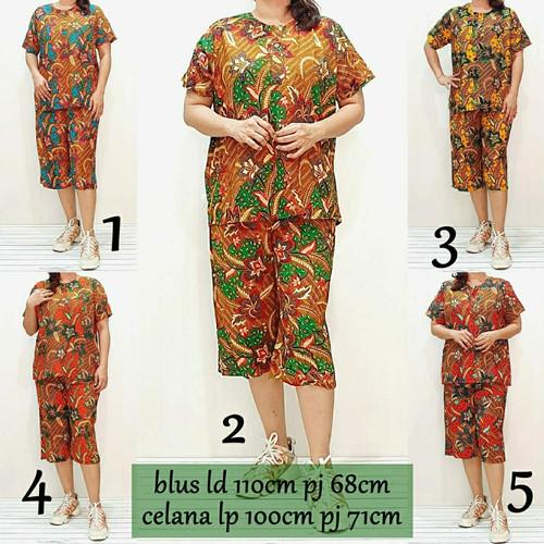 Foto Produk Babydoll Batik Celana Pendek Baju Tidur Set Piyama Wanita DAUN2 dari MANS PLUS