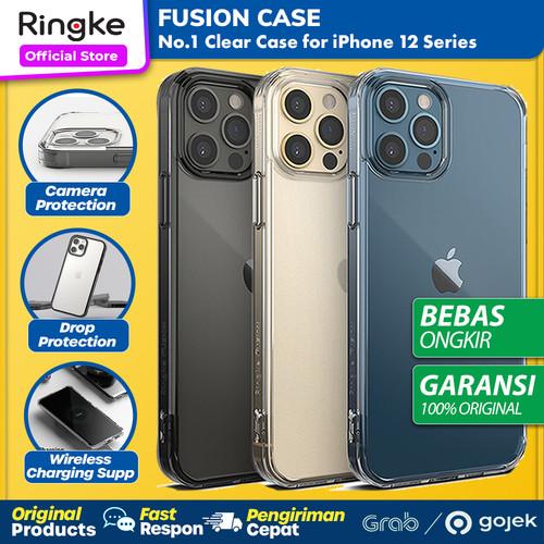 Foto Produk Original Ringke Fusion Case iPhone 12 Pro Max 12 Pro 12 Mini Casing - 12 Pro Max, Clear dari GadgetLifestyle Official