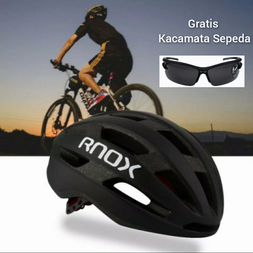 Foto Produk Helm Sepeda RNOX Roadbike MTB - Hitam dari gloryneed