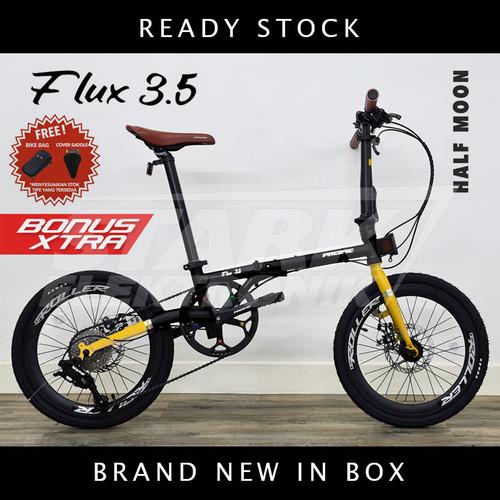 Foto Produk Pacific FLUX 3.5 Sepeda Lipat Folding Bike - Half Moon, Ban 16inch dari Stark Elektronik