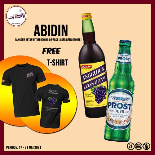 Foto Produk ABIDIN (Anggur Ketan Hitam 620mL + Prost Lager Bremer) FREE T-shirt dari kawan minum