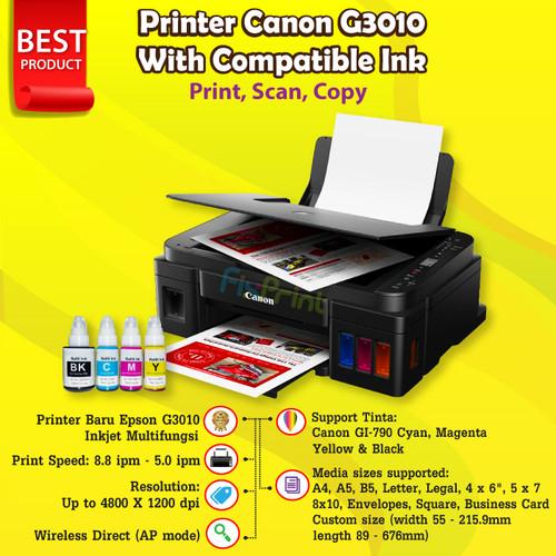 Foto Produk Printer Canon G3010 G 3010 Print Scan Copy WiFi Ink Tank Tinta GI790 - G3010Compatible dari FixPrint Indonesia
