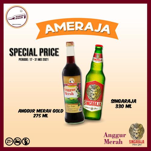 Foto Produk AMERAJA (Anggur Merah Gold 275mL + Singaraja 330mL) dari kawan minum