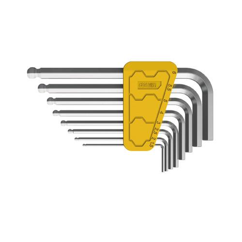 Foto Produk Deli Hex Keys Sets / Kunci L Bulat Set Panjang Kuat Isi 8/9pc DL23010X - 8 Pcs dari Deli Tools Official