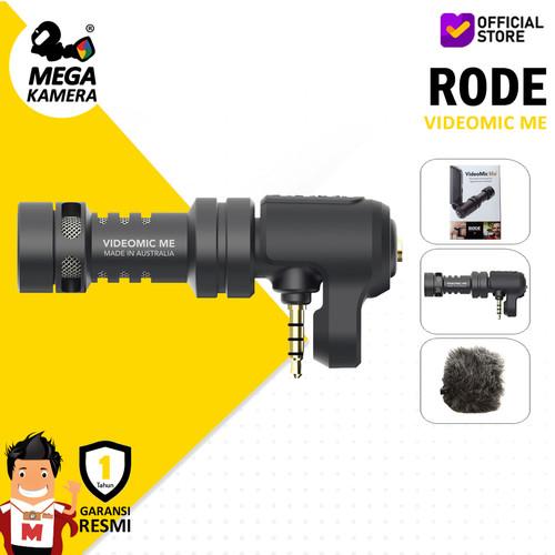 Foto Produk Rode Microphone Videomic Me, Mic Smartphone, DSLR / Mirrorless dari Megakamera