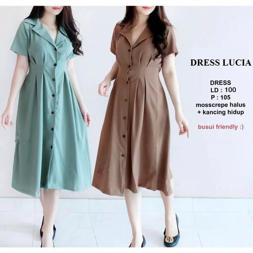 Foto Produk DRESS LUCIA / DRESS WANITA KEKINIAN / DRESS BUSUI - Hitam dari elaine-shop