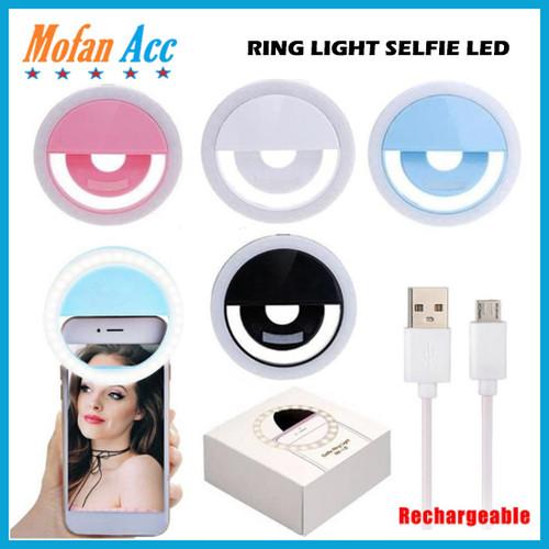Foto Produk #FI008 - RING LIGHT SELFIE LED / LAMPU SELFIE / SELFIE LAMP RING dari mofan accesories