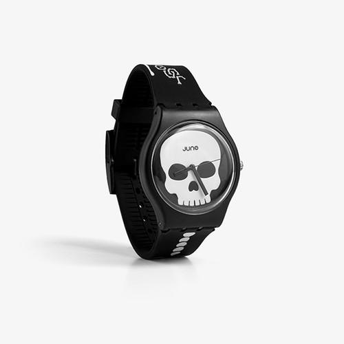 Foto Produk Juno Official - Skeleton Black | Jam Tangan | Watch Unisex dari Geoff Max Official