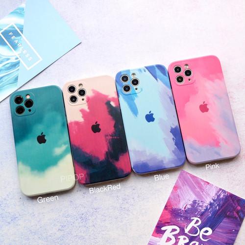 Foto Produk WATER COLOR CASE iPhone 6 7 8 Plus X Xs Max XR 11 12 PRO M - WTR GREEN, IPhone 6/6s dari Pipop Case