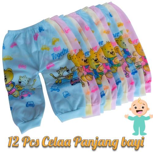 Foto Produk 12 Pcs Celana panjang bayi ( 1 Lusin ) Murah Lusinan - S dari abaqizam