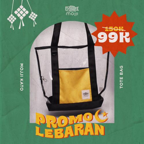 Foto Produk Tote Bag Pria/Wanita Mojji KATO Transparan Transparent Tote Bag Bening dari Mojji
