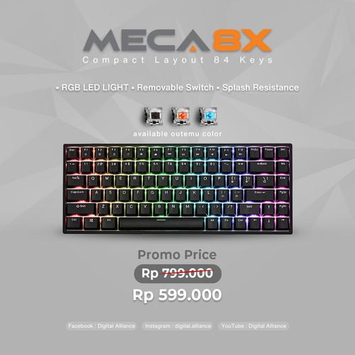 Foto Produk Digital alliance Keyboard Gaming Meca 8X Black (switch Blue,Red,Black) - Merah dari Digital Alliance