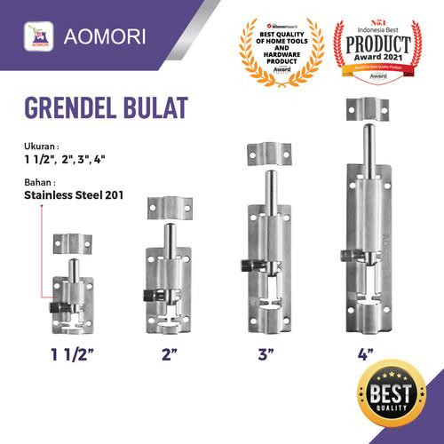 Foto Produk GRENDEL PINTU STAINLESS STEEL AOMORI - 2 INCH dari VININDO OFFICIAL STORE