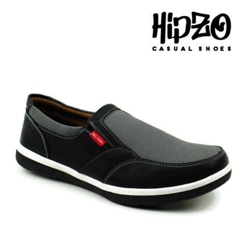 Foto Produk Sepatu Hipzo Pria Slip On Sepatu Kerja casual Pria Fashion Terbaru - Hitam, 39 dari Hipzo Official Shop