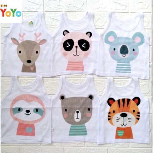 Foto Produk Singlet Bayi Kaos Dalam Anak / Baju Singlet Kaos Dalam Anak Bayi Motif - Boy (Random), 0-1 Tahun dari Toko-Yoyo