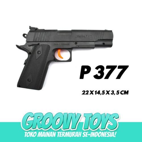 Foto Produk Mainan Tembakan Pistol Kokang Black M4mb4 P377 dari GROOVYTOYS