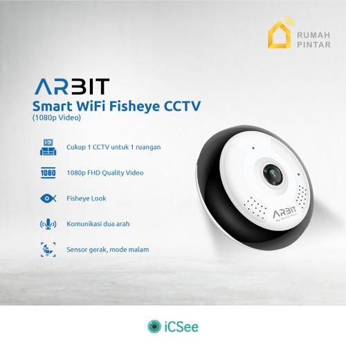 Foto Produk ARBIT - Wifi CCTV Fisheye Panoramic 1080P 2MP Storage up to 128GB dari ARBIT Official Store