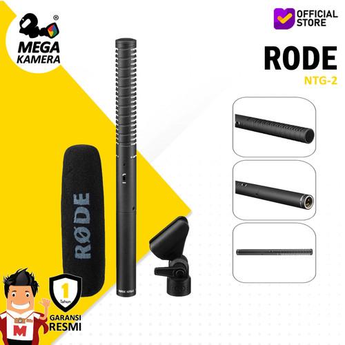 Foto Produk RODE NTG2 Shotgun powered Microphone, Mic Camera / DSLR / Mirrorless dari Megakamera