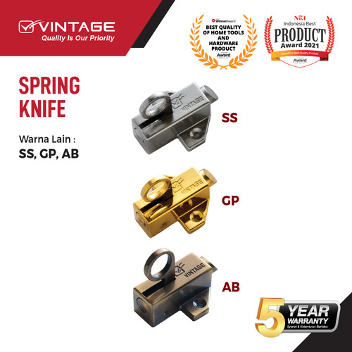 Foto Produk SPRING KNIFE / SLOT JENDELA VINTAGE - SILVER dari VININDO OFFICIAL STORE