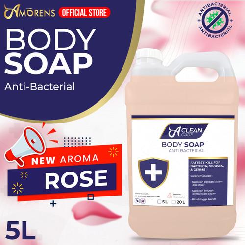 Foto Produk Sabun Mandi Cair 5 Liter / Refill / BATH & BODY WASH FOAM PREMIUM - rose dari Amorens Official Store