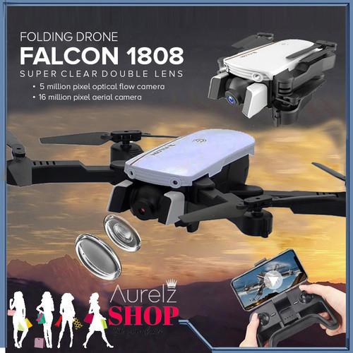 Foto Produk Falcon 1808 4K 16MP Wide Dual Camera Follow Me Drone Best Buy - Hitam dari Aurelz Onlineshop
