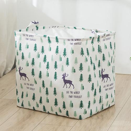 Foto Produk Keranjang Baju Laundry Bag Storage Basket Jumbo 100 Liter - Cemara dari MitraBotol