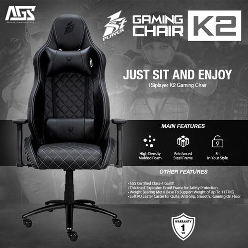 Foto Produk 1STPLAYER GAMING CHAIR - MODEL K2 (BLACK) - KURSI GAMING dari Apparel Gaming