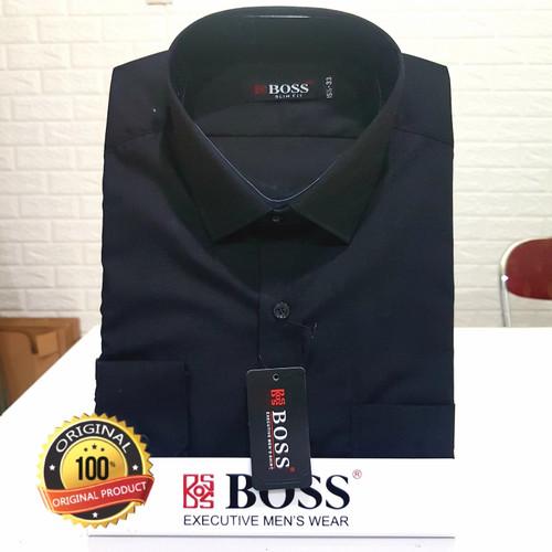 Foto Produk Kemeja Boss Slim fit tgn panjang Hitam - M dari Kalimas_Bandung