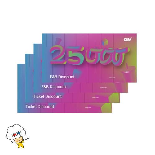 Foto Produk CGV e-coupon Discount (4 pcs) dari CGV CINEMAS