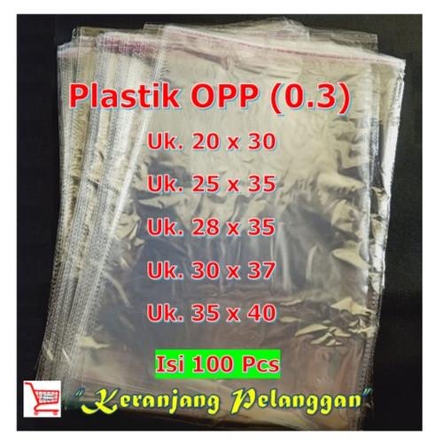 Foto Produk Plastik opp lem/plastik baju/plastik sandal tebal 0.4 micron ISI 100 L - 20 x 30 dari keranjangpelanggan