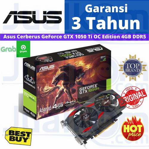 Foto Produk ASUS CERBERUS GeForce GTX1050TI GTX 1050Ti 4GB 4 GB OC Edition DDR5 dari Karya Citra Computers