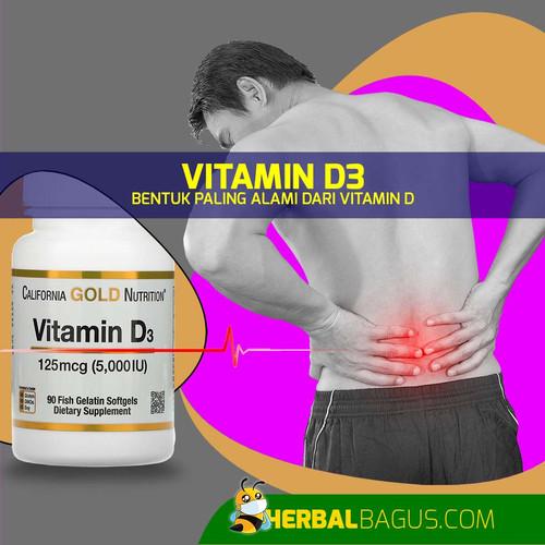 Foto Produk Vitamin D3, Herbal Bagus Vitamin D Paling Alami Mudah Diserap Tubuh dari herbalbaguscom