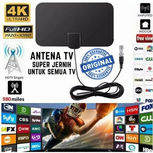 Foto Produk Antena TV Digital DVB-T2 4K High Gain 25dB TFL-D139 ORIGINAL Taffware dari store seller com