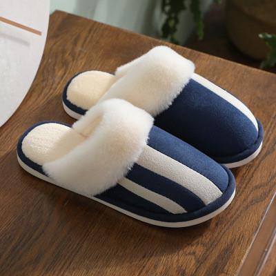 Foto Produk ARAMI Warm Home Cotton Soft Rubber Slipper Sendal Tidur Karet Non Slip - Biru Tua 42-43 dari Arami Lifestyle