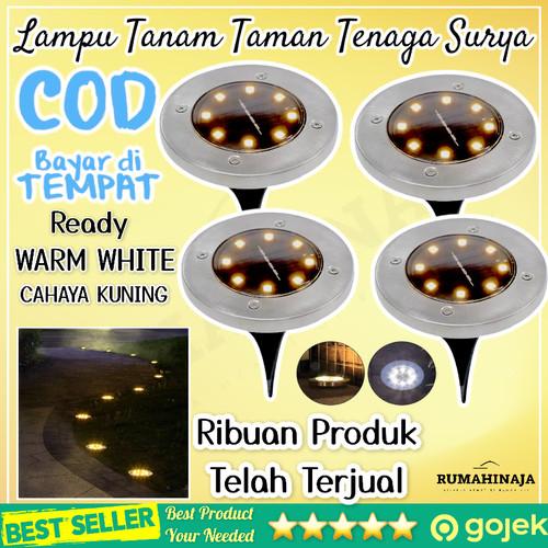 Foto Produk Lampu Tanam Taman Solar Tenaga Surya Outdoor 8 LED Waterproof - White dari RUMAHINAJA