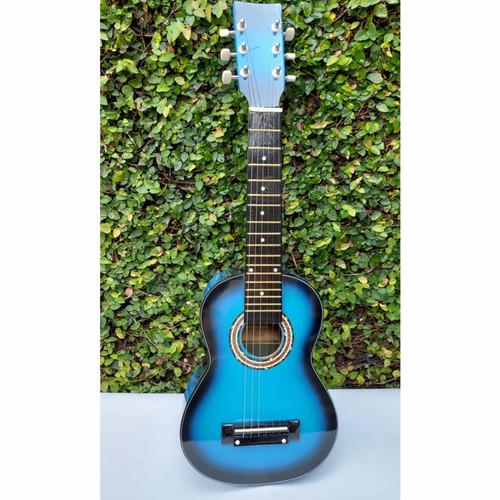 Foto Produk Gitar Mini Akustik Keren Murah 6 Senar - Biru Hitam dari Gudang Sport & Musik