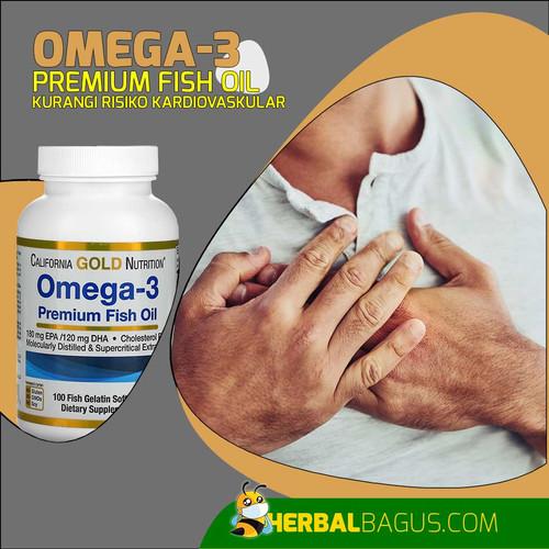 Foto Produk Omega-3 Fish Oil Premium California Gold Nutrition Herbal Bagus dari herbalbaguscom