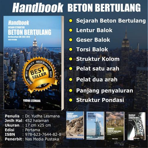 Foto Produk Softcover-Handbook Desain Struktur Beton Bertulang sesuai SNI2847-2019 dari mQuake Store