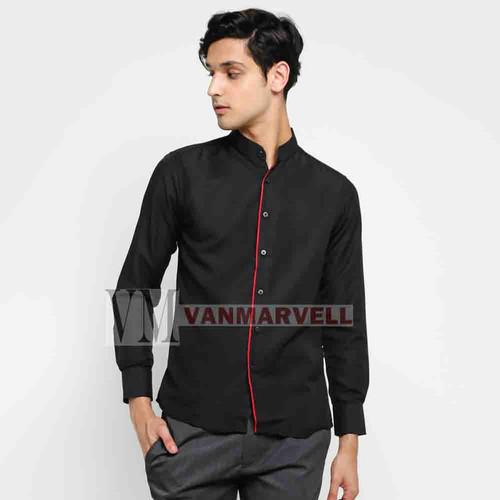 Foto Produk VM Baju Koko Slimfit Putih Kemeja Panjang - Hitam, M dari VM VanMarvell
