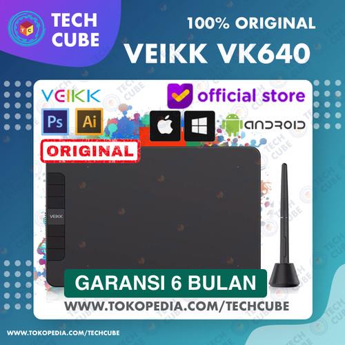 Foto Produk VEIKK VK640 Digital Graphic Drawing Pen Tablet OSU Alter S640 A30 A50 - Tablet dari Tech Cube