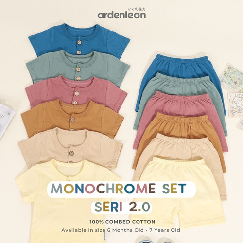 Foto Produk Baju Setelan Kaos Celana Pendek Rumah Casual Anak Cowok Cewek UN2107 - Pineapple, S dari Brown Baby Bear