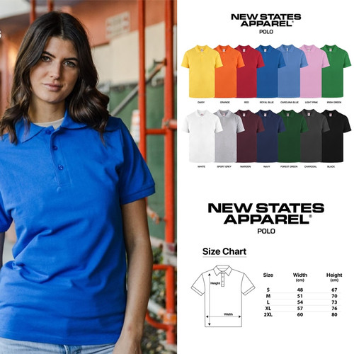 Foto Produk New States Apparel Premium Cotton 8100 Kaos Polo Shirt Pria Berkerah - Black, S dari GILDAN + DISTRIBUTION