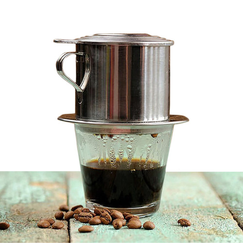 Foto Produk Gelas Kopi Saringan Vietnamese Coffee Drip, Alat Pembuat Kopi Dripper dari Tasneem